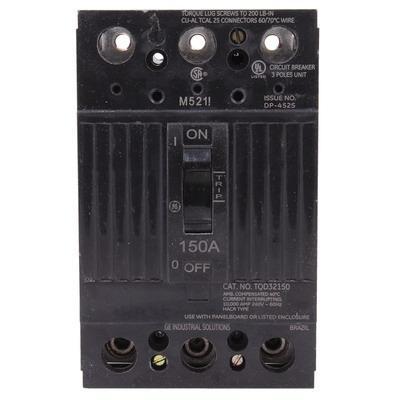 GE TQD32125 125 AMP 240 VOLT 3 POLE CIRCUIT BREAKER