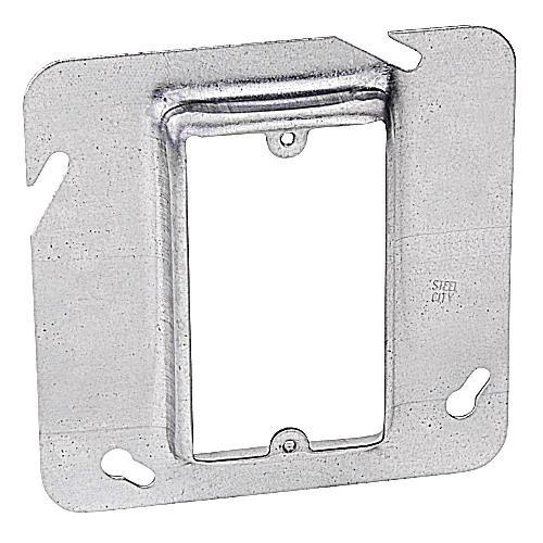 Thomas & Betts 72C14 Pre-Galvanized Steel 1-Gang Single Device Box Cover 4-11/16 Inch x 4-11/16 Inch x 3/4 Inch Steel City®