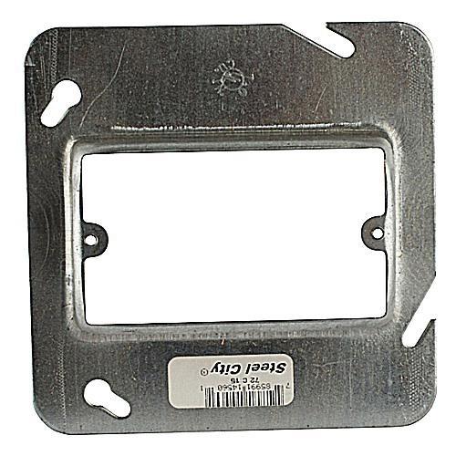 Thomas & Betts 72C15 Pre-Galvanized Steel 1-Gang Single Device Box Cover 4-11/16 Inch x 4-11/16 Inch x 1 Inch Steel City®