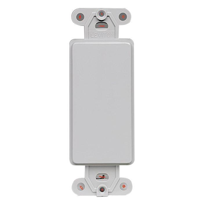 Leviton 80414-GY Nylon Box Mount 1-Gang Multimedia Blank Insert Gray ...