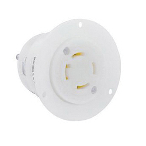 Leviton 2716 4-Wire 3-Pole Industrial Grade Flanged Outlet