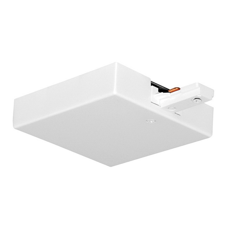 Juno Lighting Single Circuit Track: Juno Lighting T36 WH T-Bar End Feed 4-1/8-Inch X 4-1/8-Inch White For 1-Circuit Track System