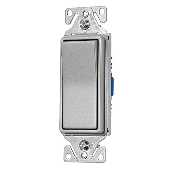 cooper wiring device 7503sg-k-l 120/277-volt ac 15-amp 4-way decorator  switch silver granite - decorative switches - switches - wiring devices -  wiring
