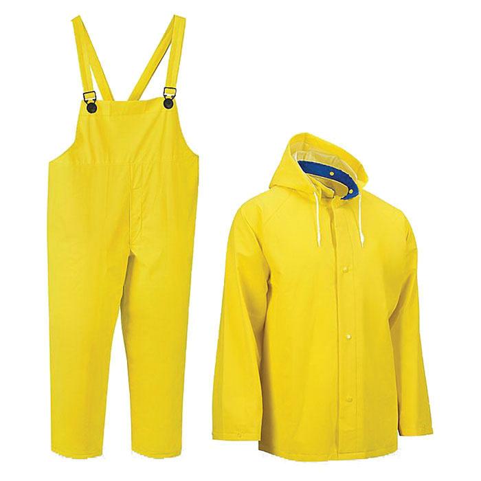Uline S-10489X Economy Rain Suit X-Large Yellow - Coverall