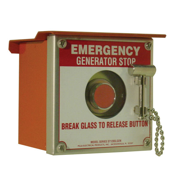Pilla Electrical ST120SN3RSLGS Surface Mount Break Glass Station Emergency  Generator Stop