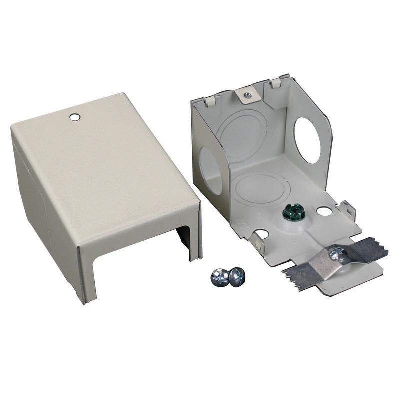 Wiremold V2410C Entrance End Fitting Steel Ivory For Use With 2400® Series Dual-Channel Raceway