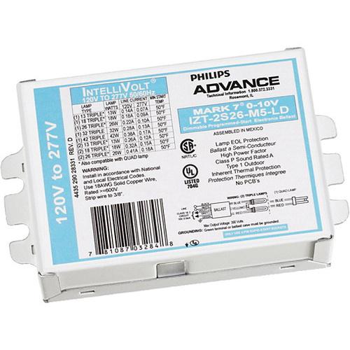 Philips Advance IZT2T42M5LD35M (1/2) 42-Watt CFTR42W/GX24Q PL-T42W  F42TBX/4P High Frequency Electronic Fluorescent Ballast 120 - 277-Volt AC  Mark