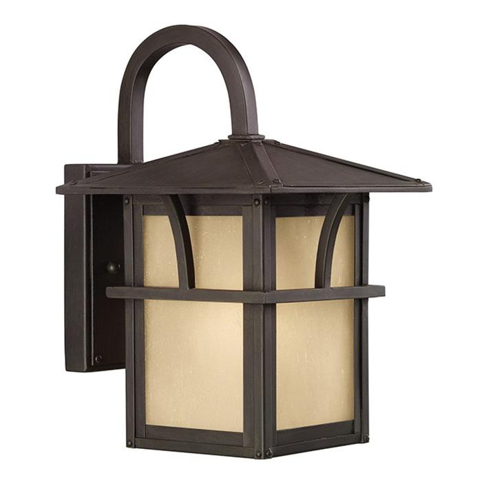 Sea Gull Lighting 88880-51 1-Light LED Outdoor Wall Lantern 100 Watt 120 Volt Statuary Bronze Medford Lakes