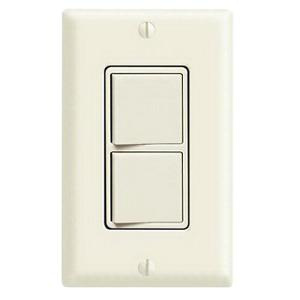 Leviton 5643-I 120/277 Volt 15 Amp (2) 3-Way Commercial Grade AC Combination Switch Ivory Decora®