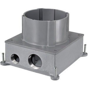 Hubbell-Wiring S1CFB Cast Iron 1-Gang Fully Adjustable Floor Box 5-Inch
