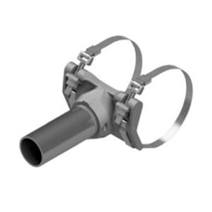 Pelco AB-3008-45 Galvanized Aluminum Clamp Kit With