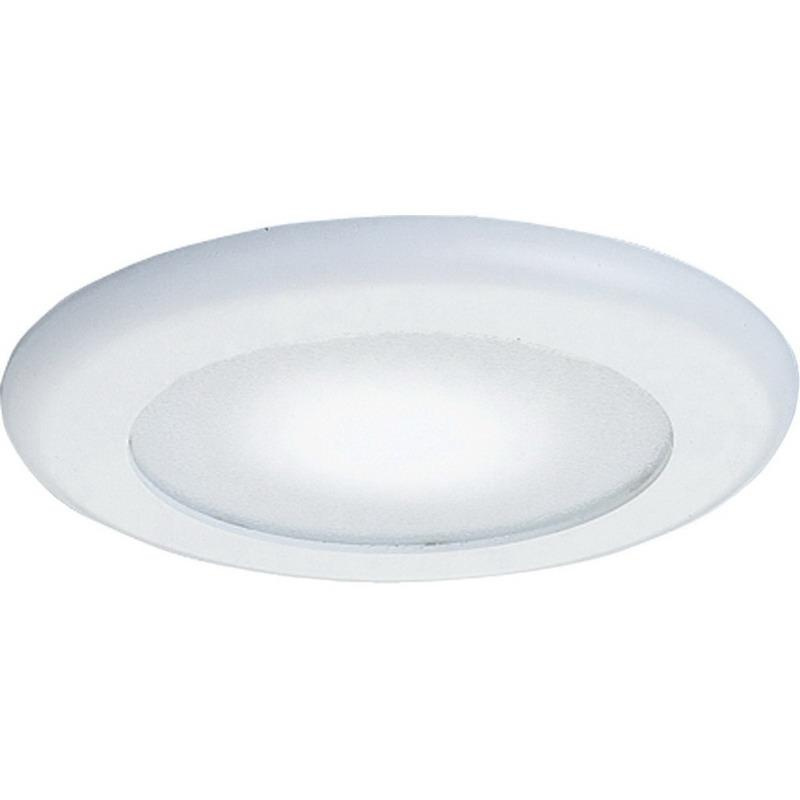 Progress Lighting P8008-60 IC/Non-IC 6 Inch Round Recessed Flat Albalite Trim With Reflector 1-Light White Glass