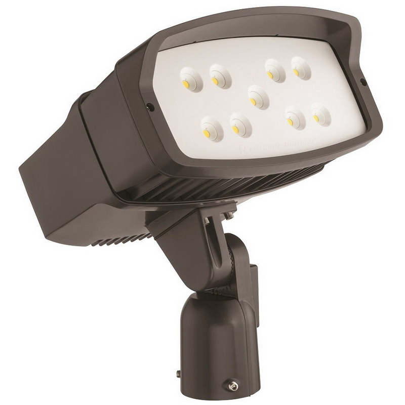 120 Volt Outdoor Led Light: Lithonia Lighting OFL2LEDP250KMVOLTISDDBXDM2 OFL2 Series