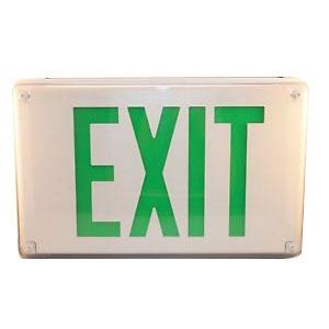Black Faceplate Housing, Lithonia Lighting Lv-S-1-G-120//277-Um-4X Exit Sign Emergency Led Lighting