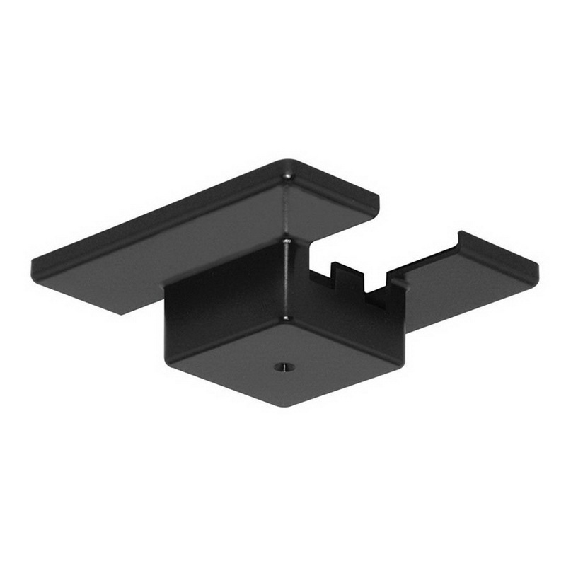Juno Lighting Single Circuit Track: Juno Lighting T29 BL Floating Electrical Feed 4-5/8-Inch Black For Trac-Master® T-Series One