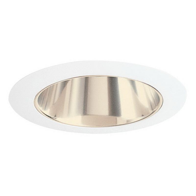 Juno Lighting 447G-WH Low Voltage 4 Inch 447 Series Adjustable Down Light Cone Reflector Trim Round Gold Alzak White