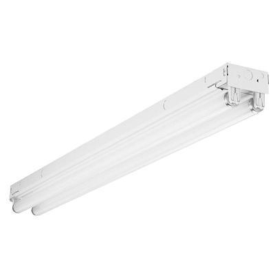 Lithonia Lighting TC-2-32-MVOLT-1/4-GEB10IS 2-Light Surface/Suspended Mount Tandem Channel General Purpose Strip Light 32 Watt 120 - 277 Volt High Gloss Baked White Enamel
