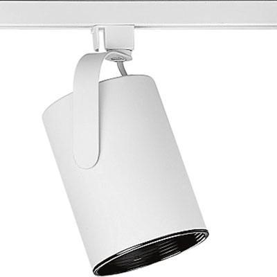 Progress Lighting P9206-28 Flat Back Track Head Ceiling Light 75 Watt 120 Volt White Alpha Trak®