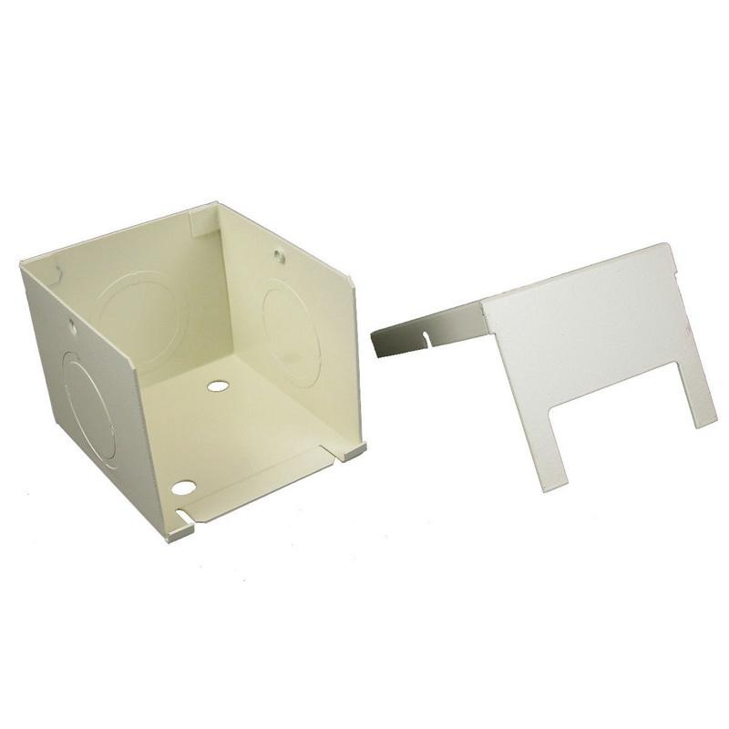 Wiremold V2410FC Full Capacity Entrance End Fitting Steel Ivory For Use With 2400® Series Dual-Channel Raceway