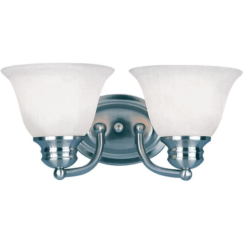 Maxim Lighting 2687MRSN 2-Light Classic Up/Down Mount Bath and Vanity Fixture 100 Watt 120 Volt Satin Nickel Malaga