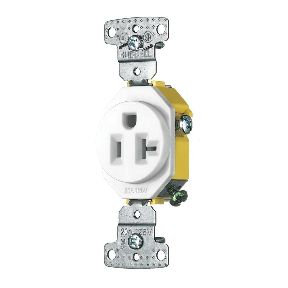 220 Volt Wiring Diagram Residential: Hubbell-Wiring RR205W Residential Grade Straight Blade