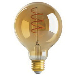 Satco S9968 Dimmable G30 Spiral Filament Vintage Led Lamp E26 Medium Base 4 5 Watt 260 Lumens 80 Cri 2000k Warm White Led Lamps And Bulbs Lamps Bulbs And Drivers Lighting Walters Wholesale