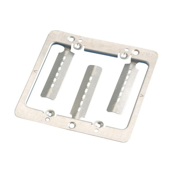 Erico MPLS2 Plain Steel Wallmount 2-Gang Low Voltage Mounting Plate Caddy®