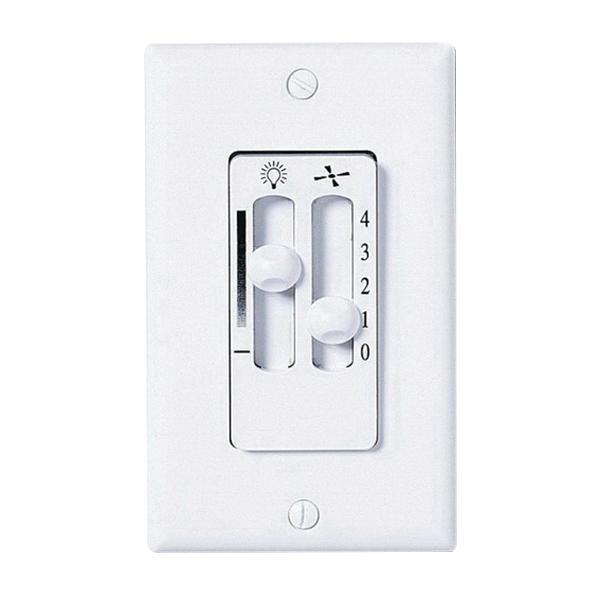 Emerson SW90W 1.25 Amp Dual Slide Control White