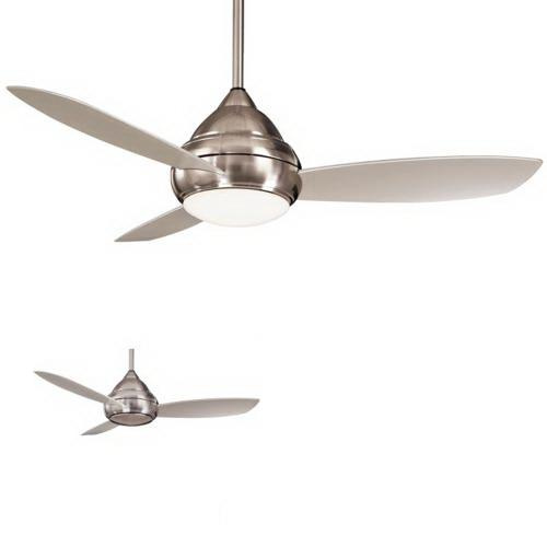 Minka-Aire F577-BNW Concept I Ceiling Fan With Light 52 Inch 3 Blade 3 Speed Brushed Nickel Wet