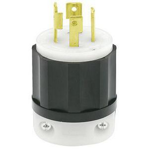 Leviton 2721 4 wire 3 pole polarized industrial grade locking plug leviton 2721 4 wire 3 pole polarized industrial grade locking plug 250 volt 3 greentooth Choice Image