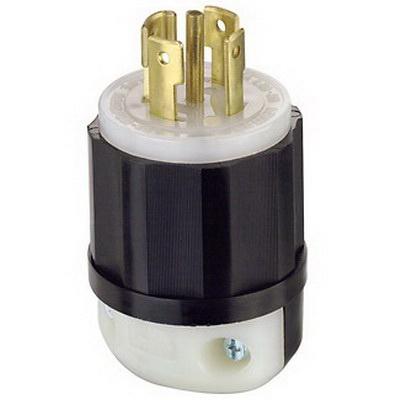 Leviton 2821 5-Wire 4-Pole Industrial Grade Polarized Locking Plug on