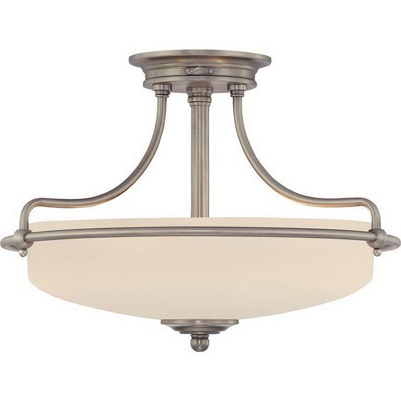 quoizel lighting gf1717an 3 light semi flush mount ceiling fixture