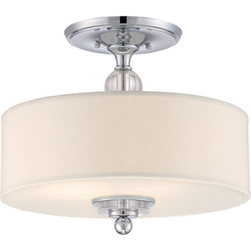 Quoizel Lighting Dw1717c 3 Light Semi Flush Mount Fixture 100 Watt 120 Volt Polished Chrome Downtown