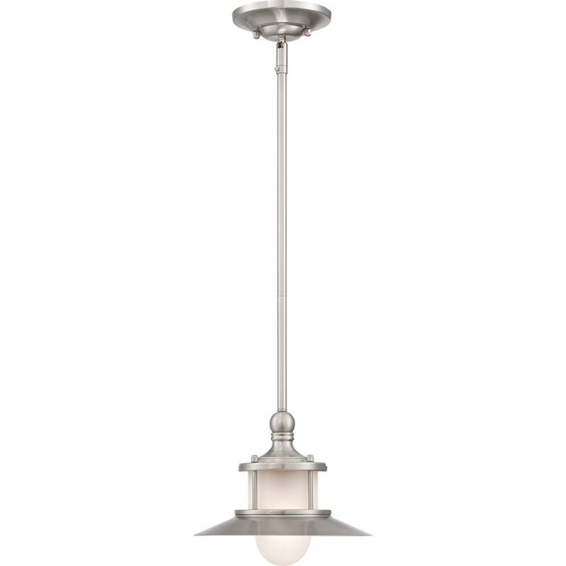 Quoizel Lighting Na1510bn 1 Light Mini Pendant Fixture 100 23 Watt 120 Volt Brushed Nickel New England