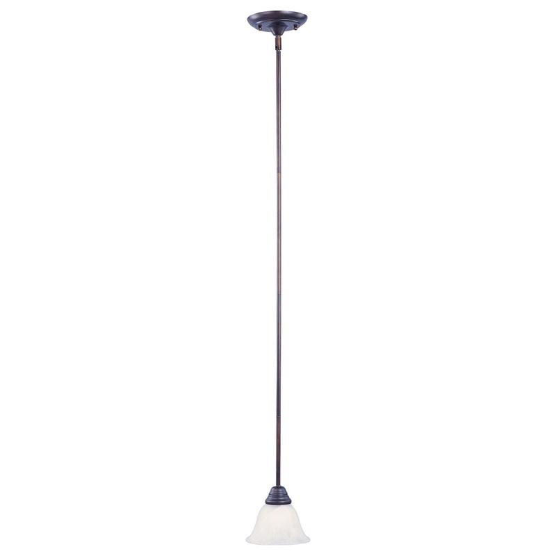 Maxim Lighting 91064MROI 1-Light Mini Pendant Fixture 100 Watt 120 Volt Oil Rubbed Bronze Newport