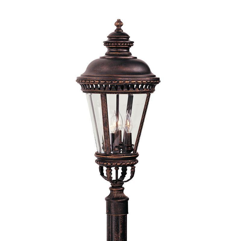 Murfeiss OL1908GBZ 4-Light Outdoor Post Lantern 60 Watt 120 Volt Grecian Bronze Castle