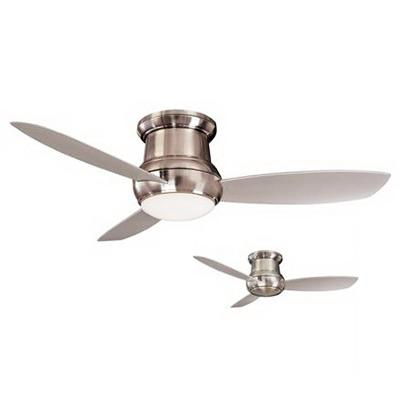 Minka-Aire F574-BNW Concept II Ceiling Fan With Light 52 Inch 3 Blade 3 Speed Brushed Nickel Wet