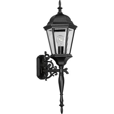 Progress Lighting P5684-31 1-Light Wall Lantern 100 Watt 120 Volt Textured Black Painted Welbourne