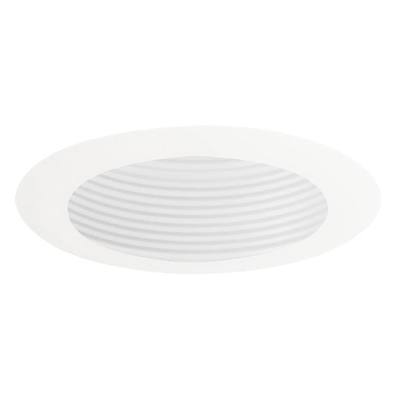 Juno Lighting 444W-WH 4 Inch Down Light Or Adjustable White Baffle Trim 444 Series Low Voltage Round