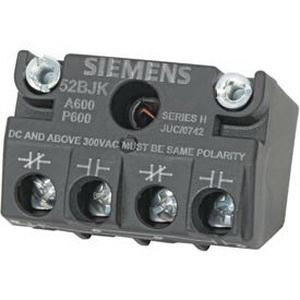 Siemens 52BJK Heavy-Duty Touchsafe Contact Block Screw Terminal 1 NO-1 NC Black Max™