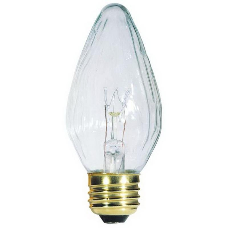 Westinghouse lighting 0403400 dimmable f15 flame tip for Flame lampen 40 watt