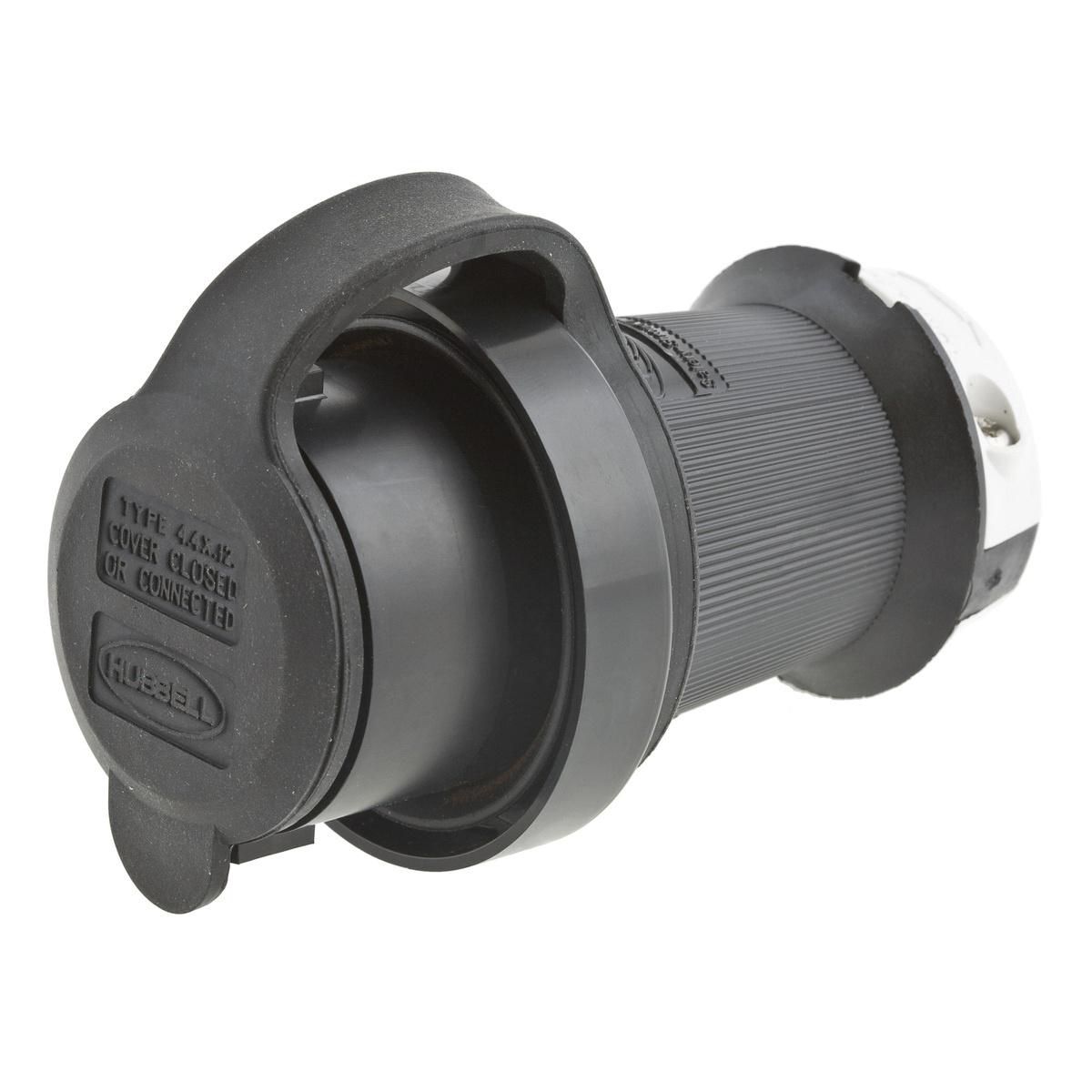 Hubbell-Wiring HBL2611SW 3-Wire 2-Pole Watertight Plug 125 ... on