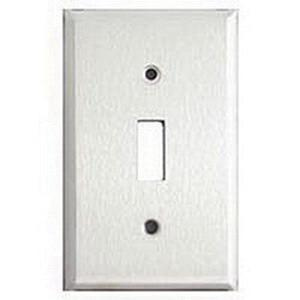 Mulberry 97071 430 Stainless Steel Standard Size 1-Gang Toggle Switch Wallplate (1) Toggle Switch