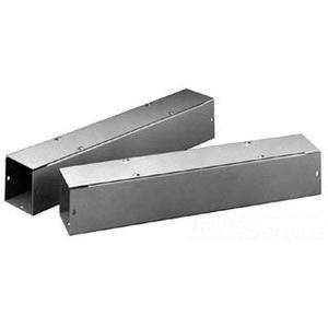Hoffman F66T118GVP ANSI 61 Gray Polyester Powder Coated 14/16 Gauge Steel Straight Section Lay-In Wireway 18 Inch x 6 Inch x 6 Inch