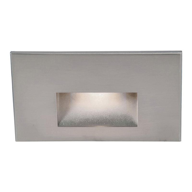 Wac Lighting Wl Led100 C Ss 1 Light Led Step 3 9 Watt 120 Volt 3000k Brushed Stainless Steel Ledme