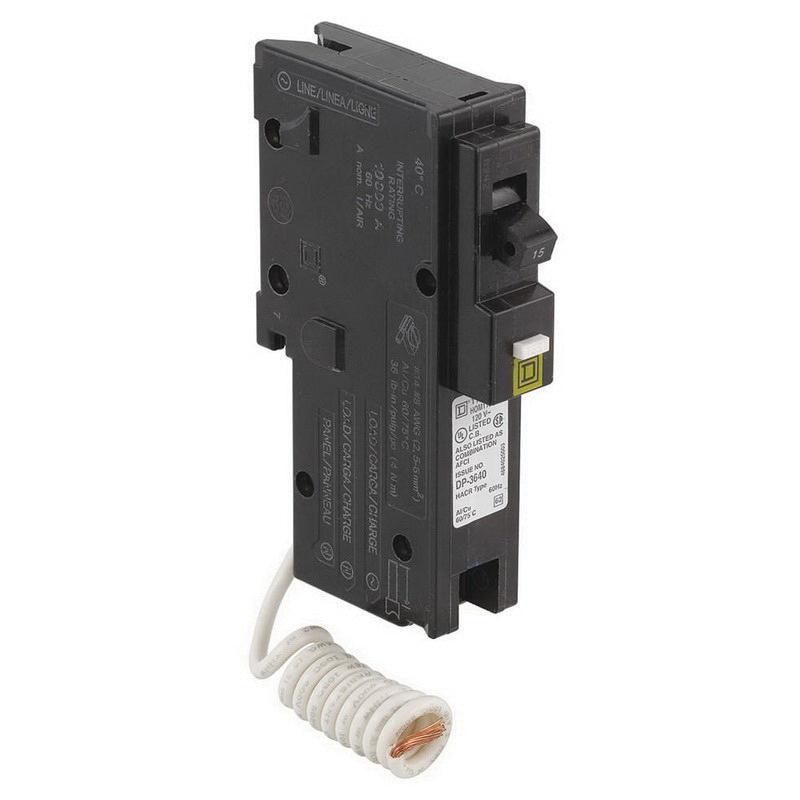 Square D HOM115CAFI Plug-In Mount Miniature Circuit Breaker 1-Pole ...