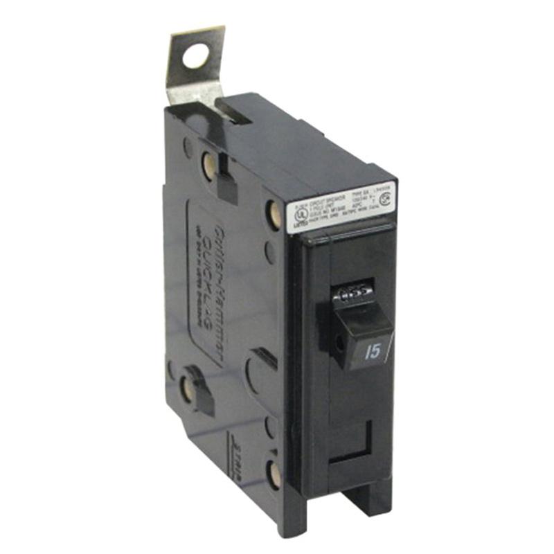 Eaton BAB1015 Bolt-On Mount Type BAB Industrial Miniature Circuit Breaker 1-Pole 15 Amp 120/240 Volt AC Quicklag®
