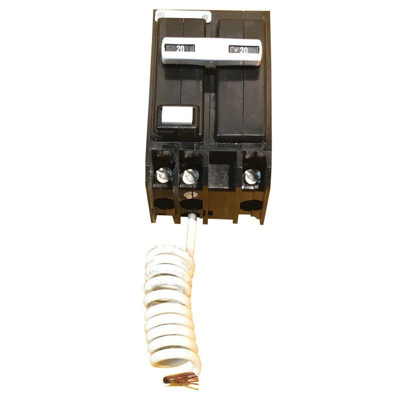 Eaton QBGF2020 Bolt-On Mount Type QBGF Ground Fault Circuit Breaker 2-Pole 20 Amp 120/240 Volt AC Quicklag®