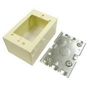 Wiremold V5744 1-Gang Extra Deep Switch and Receptacle Box Fitting ...