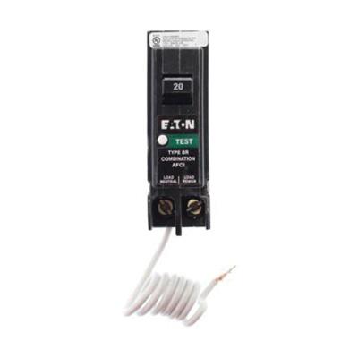 Eaton BRCAF120 Plug-In Mount Type BRC Combination Arc Fault Circuit Breaker 1-Pole 20 Amp 120 Volt AC Fire-Guard®